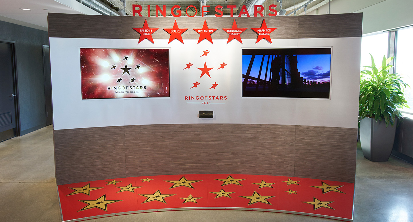 Experiential design for Aramark Ring of Stars