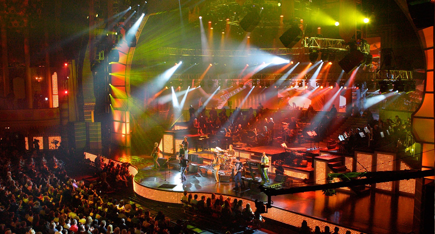 Large-scale live event production for network television