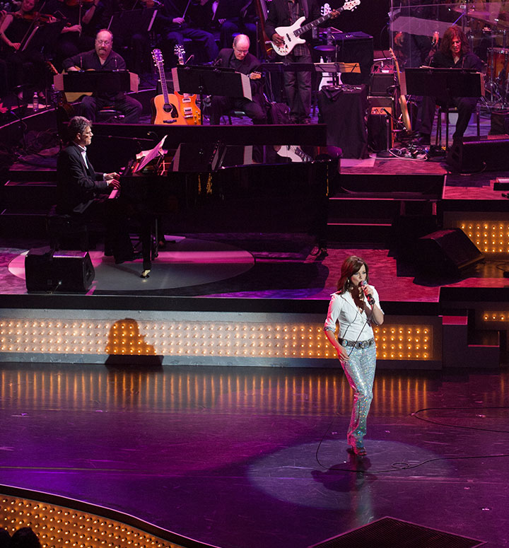 Martina McBride performs with David Foster
