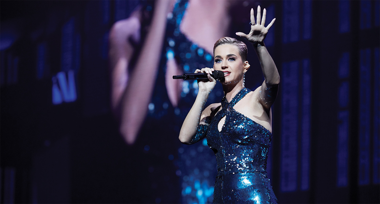 Katy Perry can be booked for corporate or private events