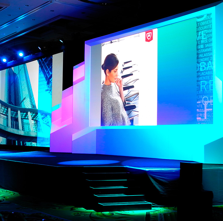 Corporate event production for McAfee