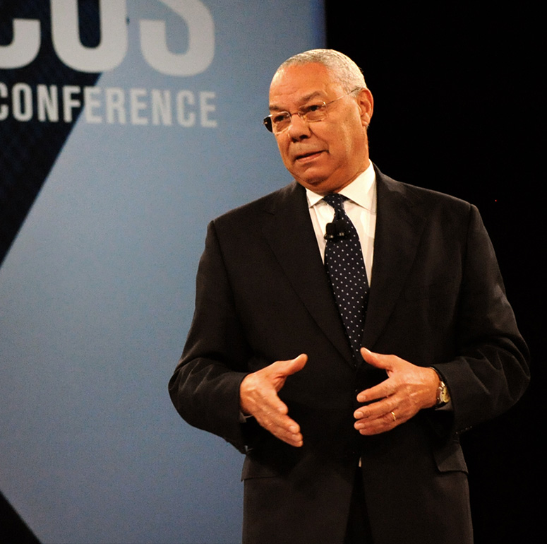 Colin Powell as speaker at corporate event