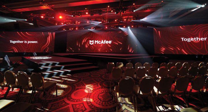 EVI produces global event for McAfee
