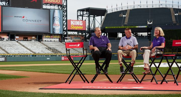 Experiential communications event staged at Coors Field
